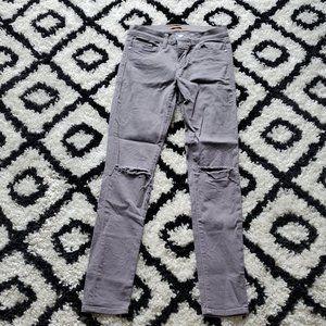 Rebecca Minkoff Thompson skinny jeans gray grey